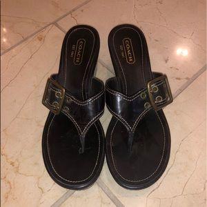Coach Platform Flip Flop Sandals
